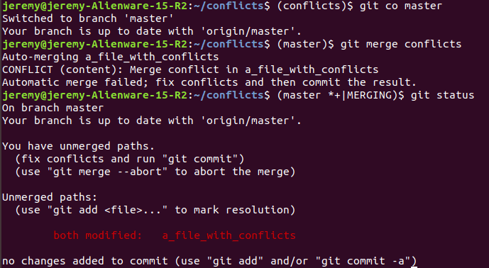 conflicts command line