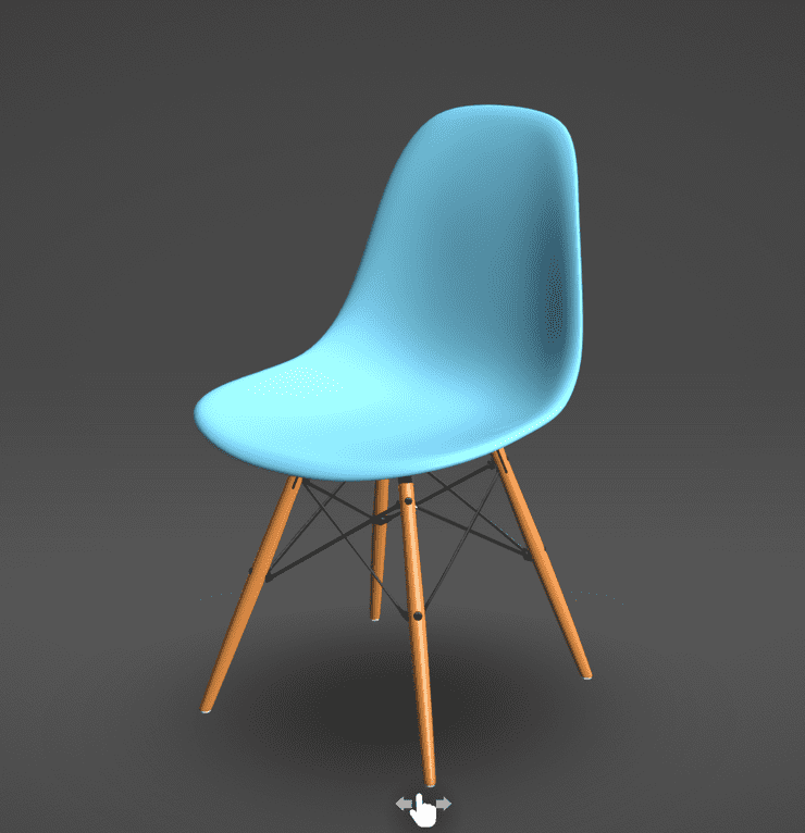 The default Sketchfab chair