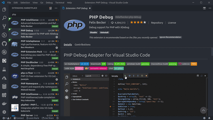 Setup Vs Code For Efficient Php Development Theodo